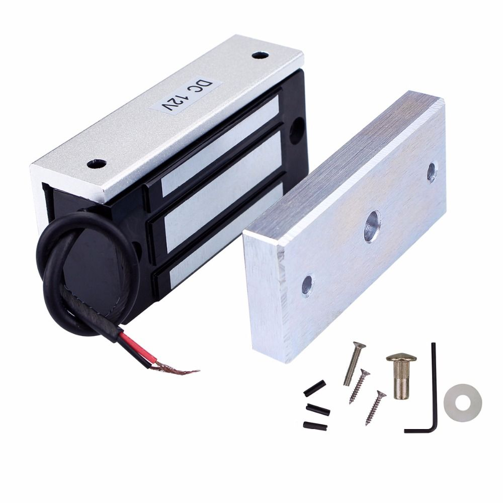 60kg Mini Door Lock Electric Magnetic Door Lock 12vdc Door Entry Access Control F1745d Magnetic Door Lock Entry Doors Electromagnetic Lock
