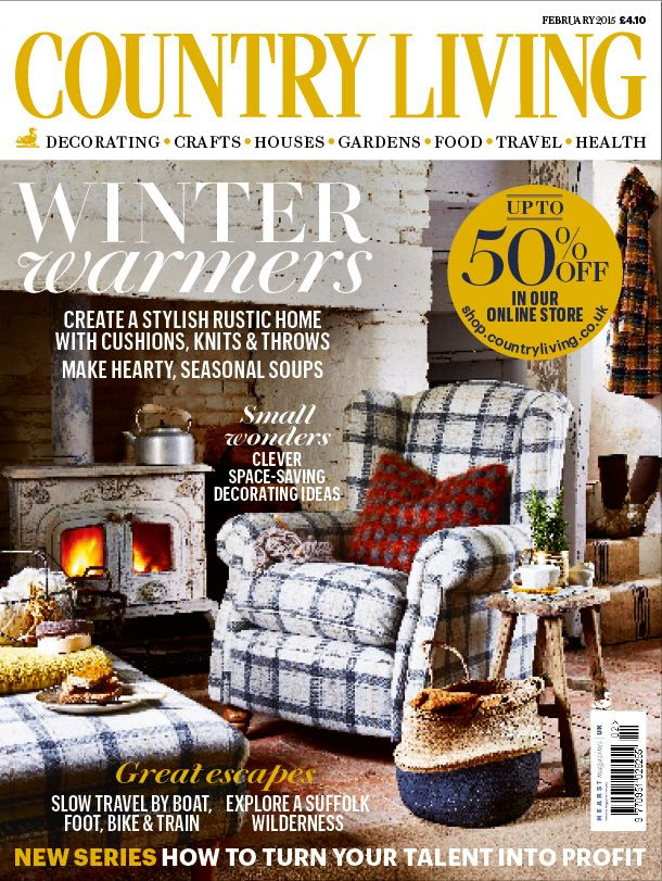 Country Living Magazine February 2015 Cover Countryliving Co Uk Living Jary