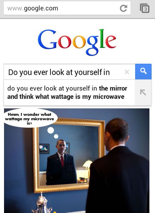 Do You Ever Lok At Yourself In The Mirror And Think What Wattage