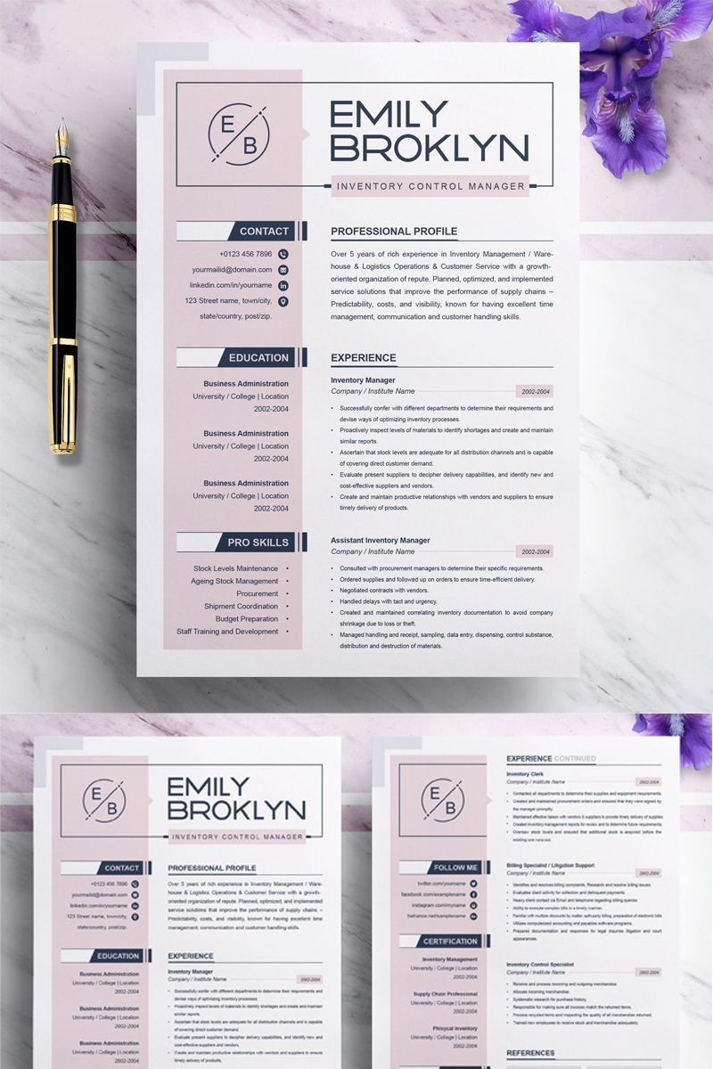 Creative Resume Template, Creative Resume Template