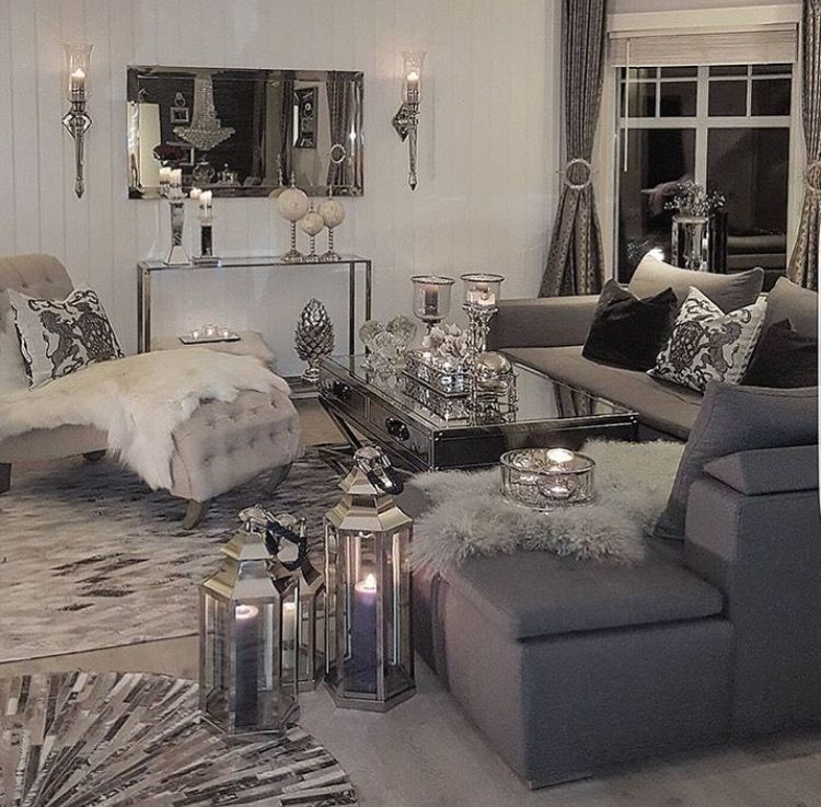 Champagnemami03 Glam Living Room Decor Living Room Decor Gray Grey Couch Living Room