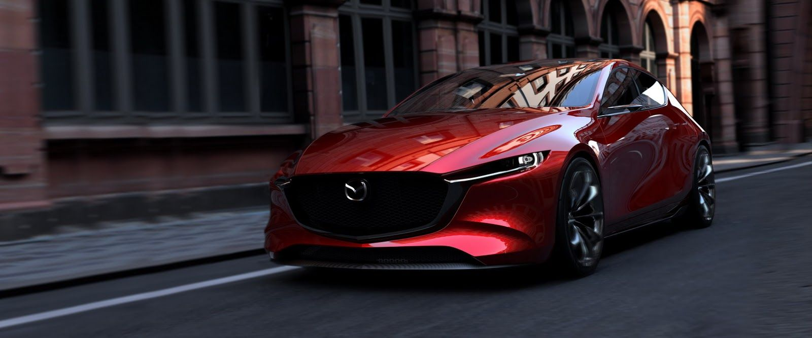 Mazda Kai Concept Teases Next Mazda3 But Don T Get Your Hopes Too High Carscoops Mazda 3 Hatchback Mazda Cars Cheap Sports Cars