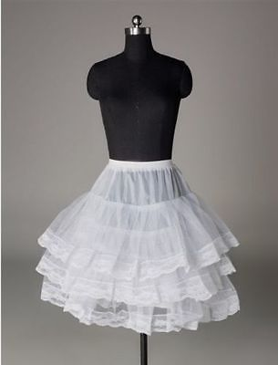 New White Short Women Wedding Petticoat Bridal Underskirt Crinoline Skirt Dress