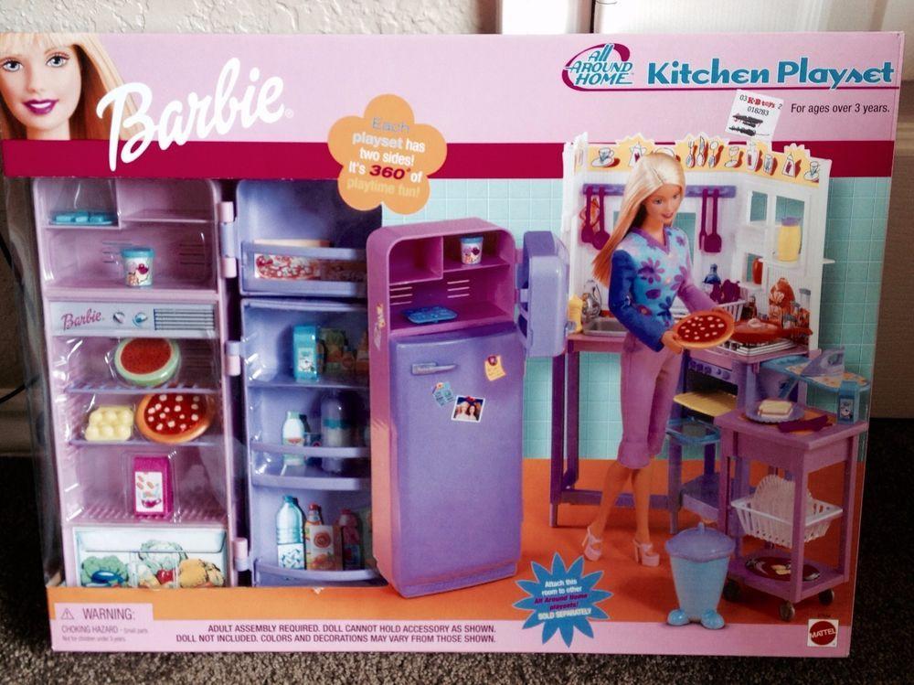 Toy Dishes NIB Girls Barbie Kitchen Playset //Tea Set