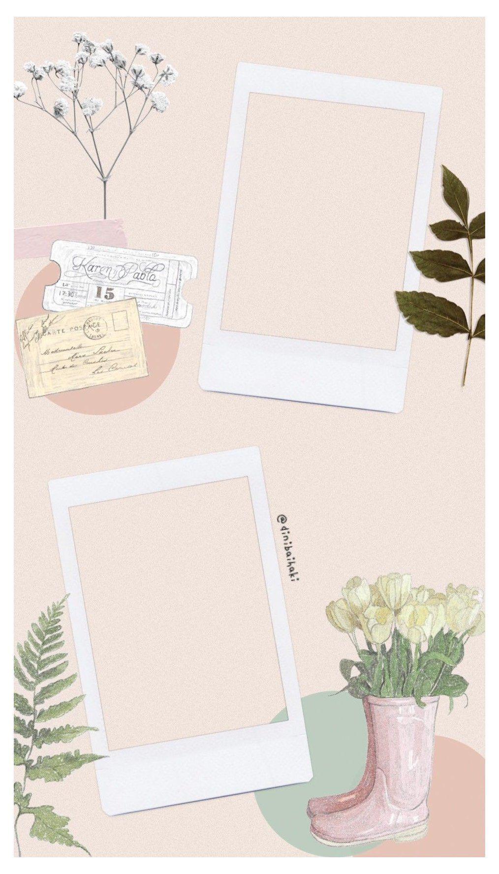 polaroid template photo layout
