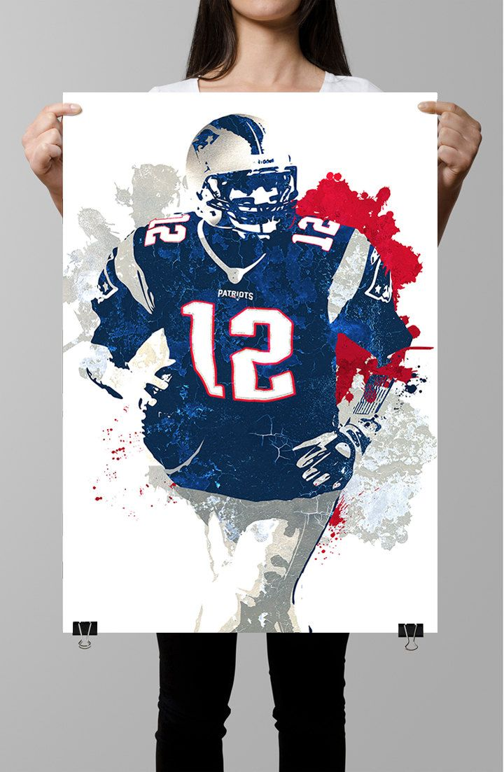 Tom Brady New England Patriots Poster Nfl By Gofigureartstudio Patriotic Posters Tom Brady Patriots