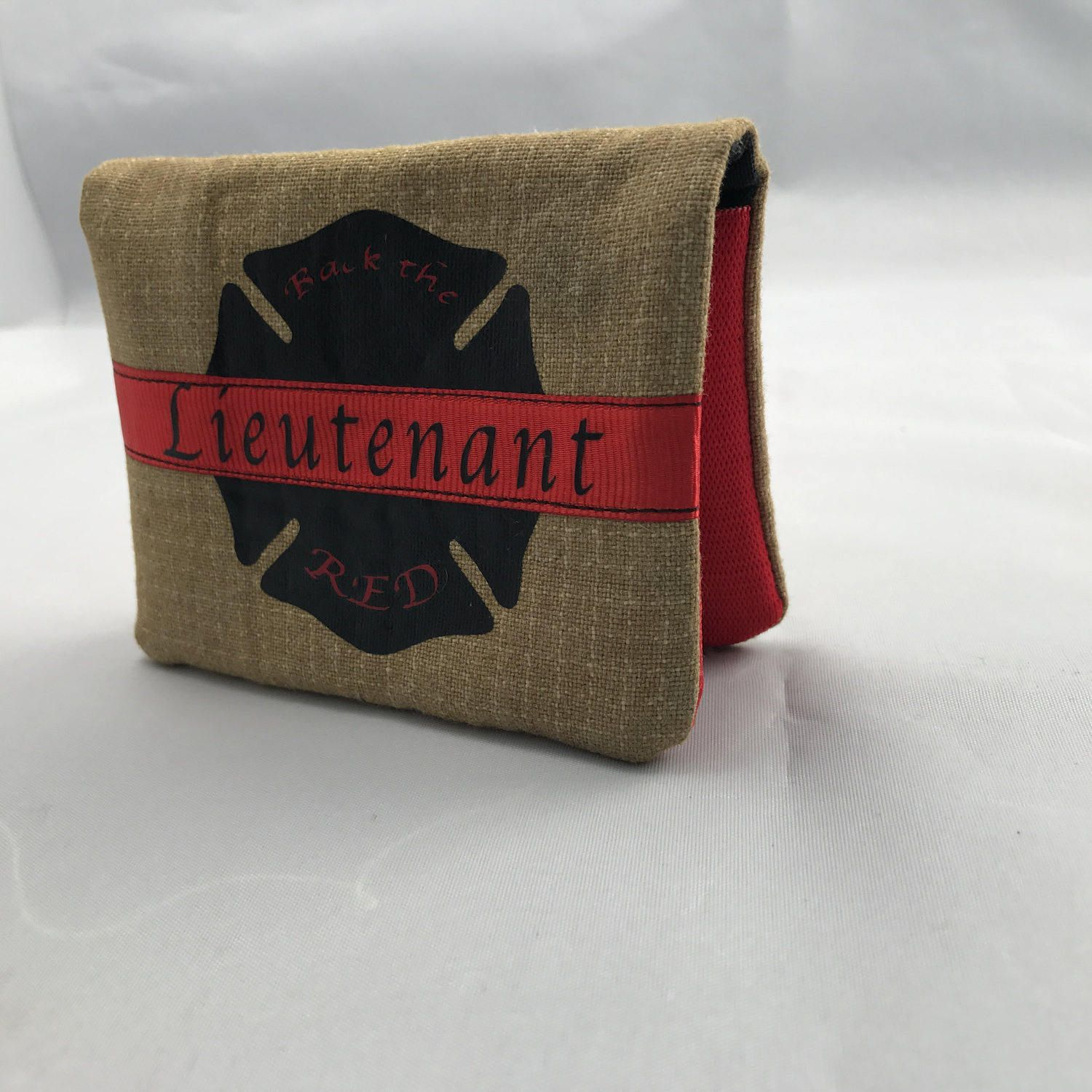 Black and Red Custom Retired Turnout Gear Maltese Cross Firefighter Wallet Turnout Gear Accessories Unique Firefighter Gift Maltese cross by ... & Firefighter Turnout gear wallet Turnout Gear Accessories ...