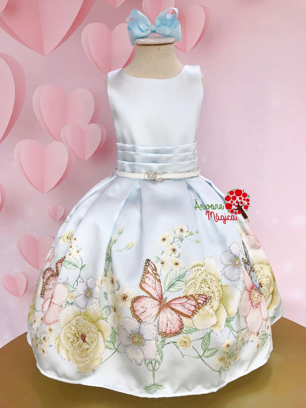 8cc41d460 Compre Vestido de Festa Infantil Borboletas Brilhos Petit Cherie na ÁRVORE  MÁGICA. Frete grátis*