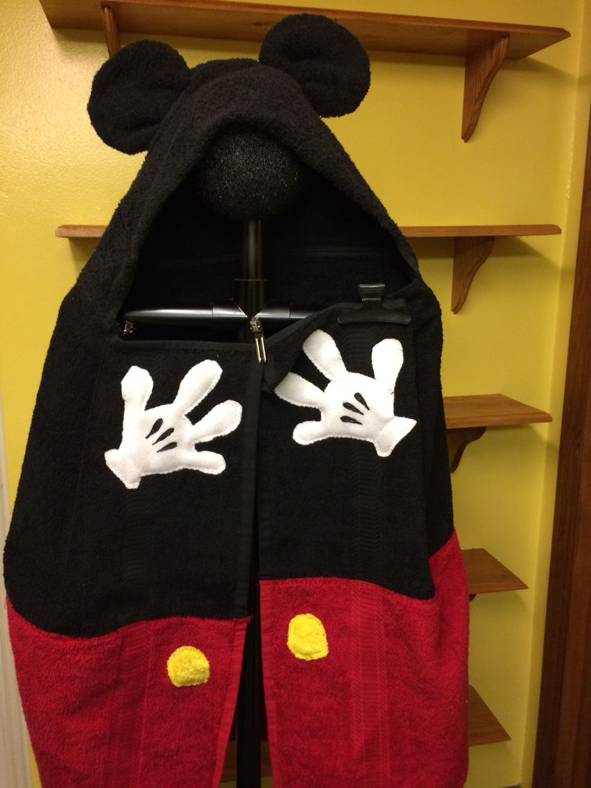 Mickey Mouse Hooded Towel Towels Crafts