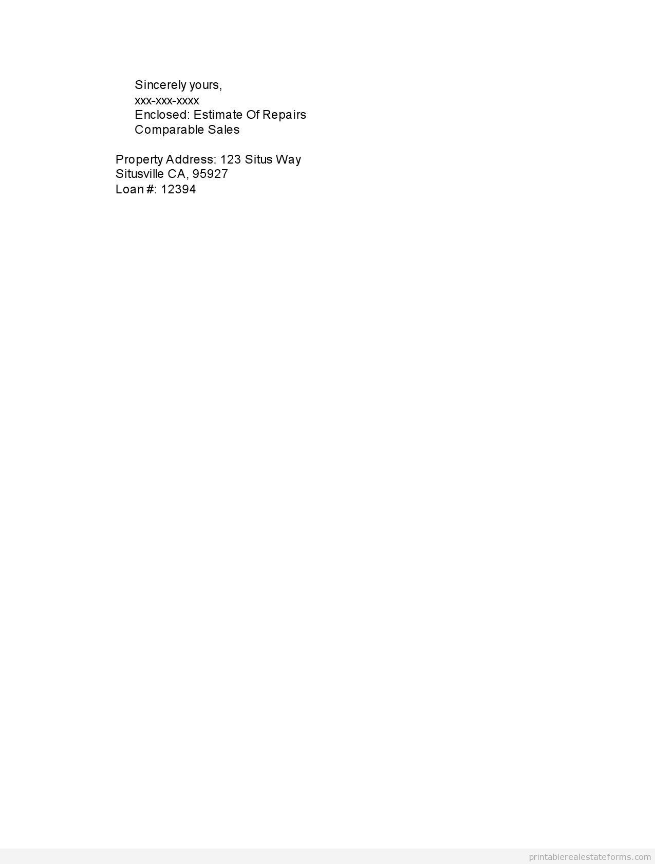 Sample Printable Bpo Letter To Bank Form  Sample Real Estate
