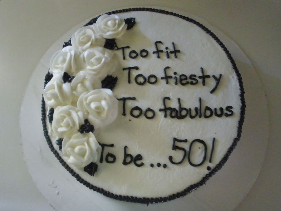 Black And White Th Birthday Cake  Over The Hill Too Spicy Too - 50 birthday cake designs