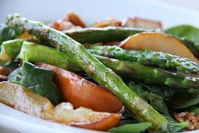 A Bountiful Kitchen: Warm Caramelized Pear and Asparagus Salad
