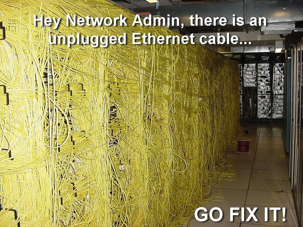 This is the nightmare of a network administrator... Should have used some cable management...eesh! #technology #humor