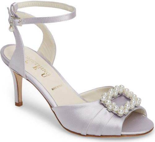 SOMETHING BLEU Women's Godiva Imitation Pearl Buckle Sandal XGAzBGLMC3