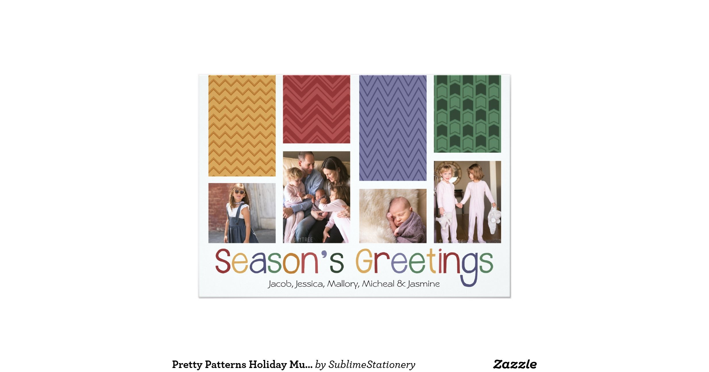 Pretty Patterns Holiday Multi Photo Flat Cards http://www.zazzle.com/pretty_patterns_holiday_multi_photo_flat_cards-256784340656012685?utm_content=buffer3b9bc&utm_medium=social&utm_source=pinterest.com&utm_campaign=buffer #xmas #christmascards #holiday