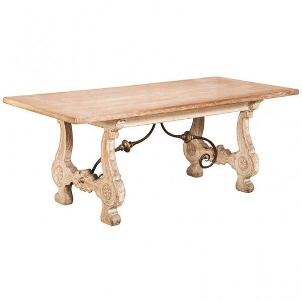 Rustic Cerused Oak Spanish Dining Table  Dining Tables  Pinterest Endearing Spanish Dining Room Table 2018