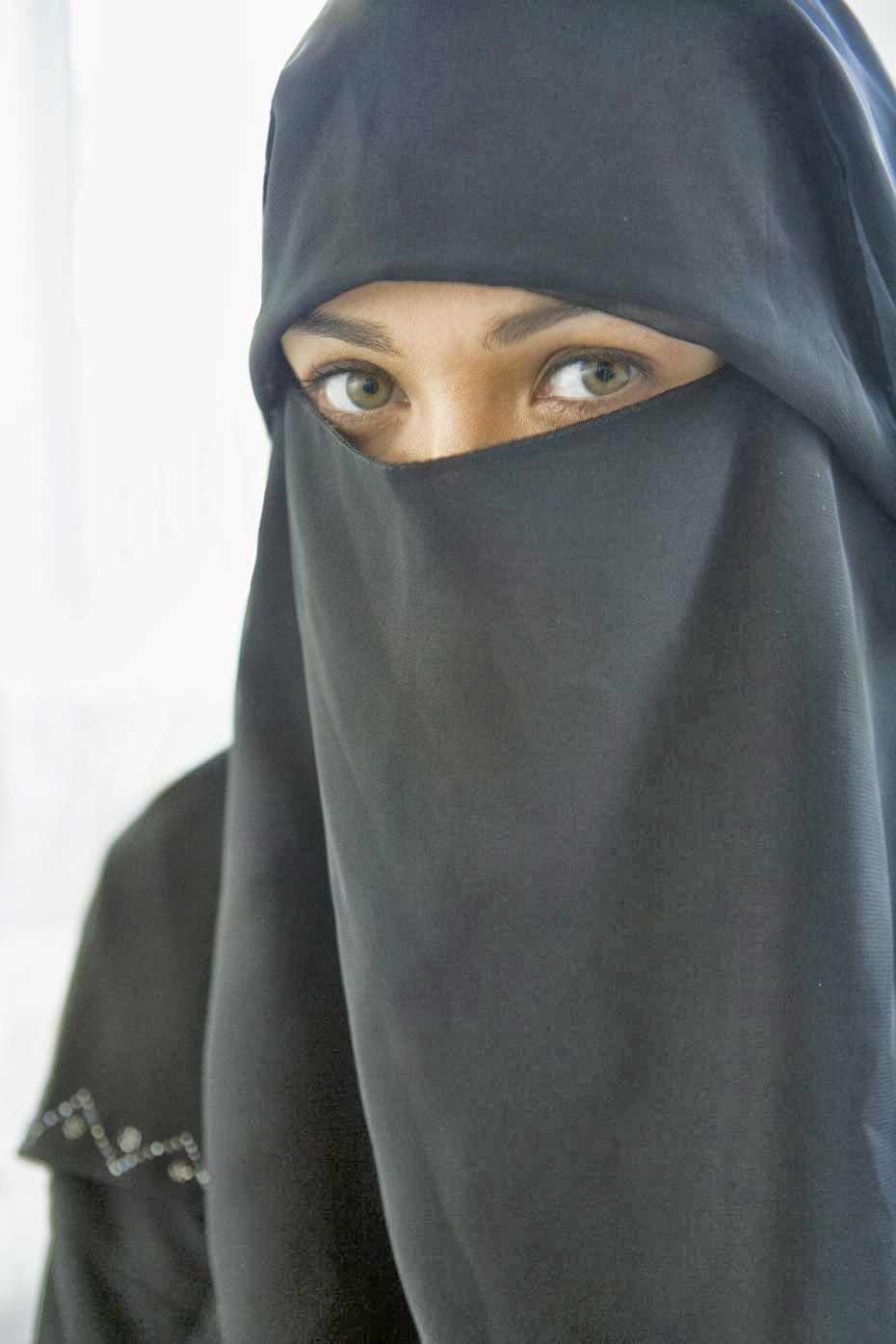 The Niqab is a face-veil that covers everything but the eyes (although some do cover their eyes- this form is also known as the Sitaar).