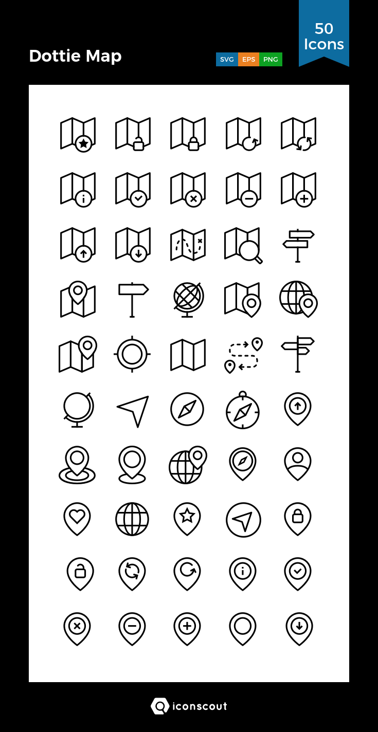 Download Dottie Map Icon pack Available in SVG, PNG, EPS