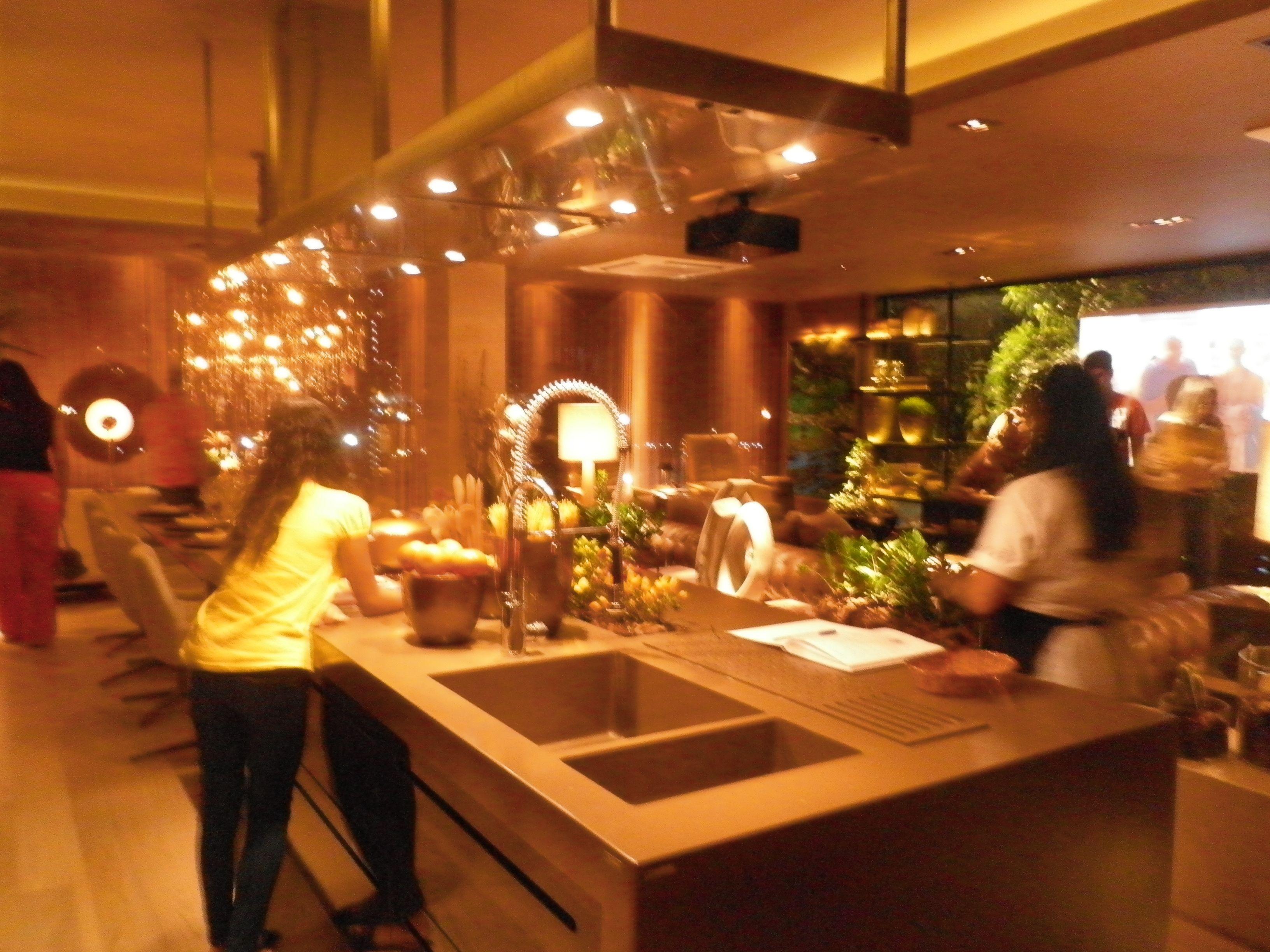Lounge Gourmet Arquiteto Fl Vio Moura Detalhe Da Cozinha Em Ilha A