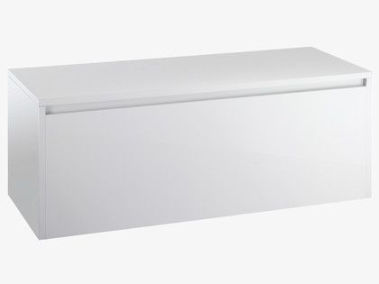 Perouse whites high gloss white storage trunk habitatuk