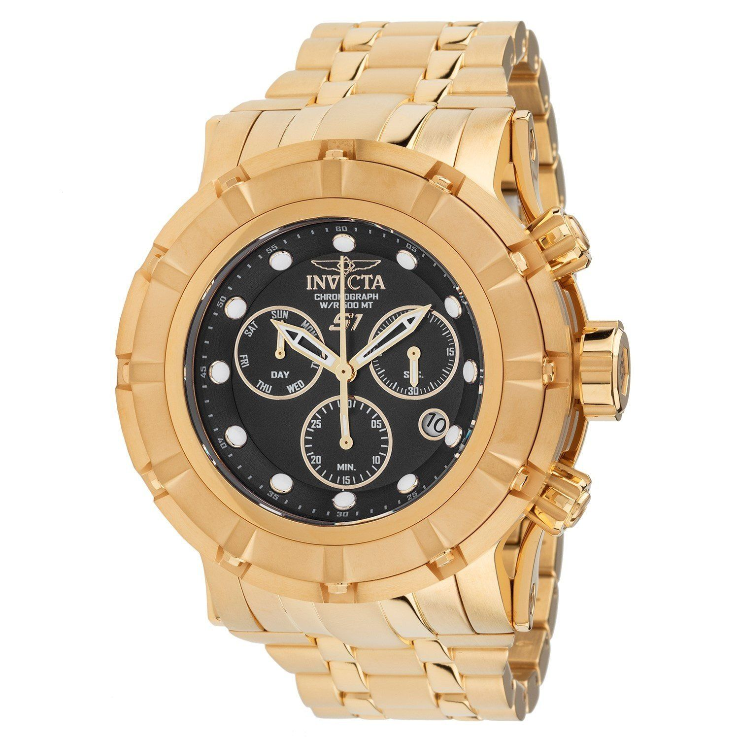 99c4a45b37f Invicta Men s 23954 S1 Rally Gold-Tone Stainless Steel Watch ...