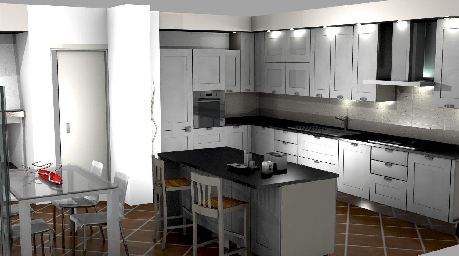Cucina @scavolini con piano centrale nero e beige #design #kitchen ...