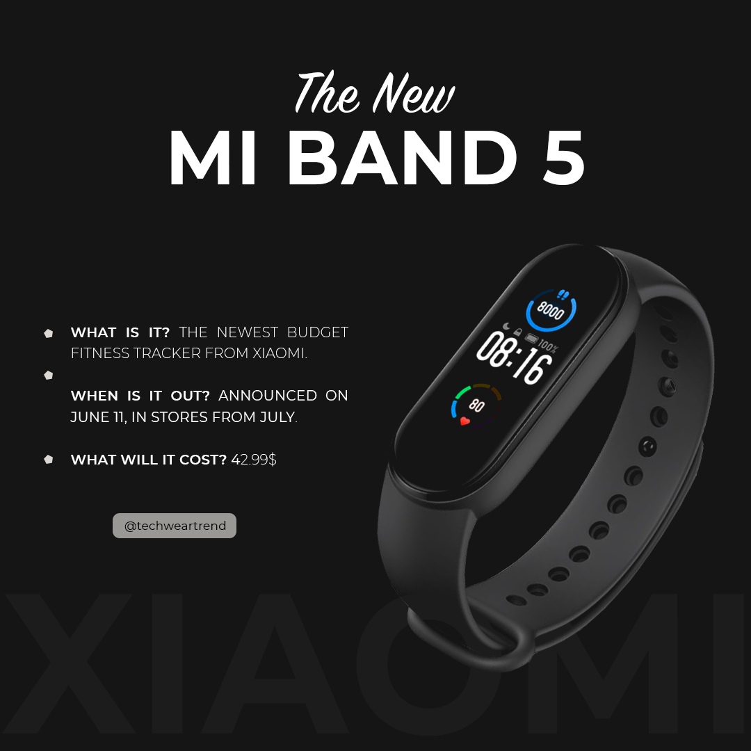 Everything You Need To Know About The New Xiaomi Mi Band 5 Grato Lei Da Atração