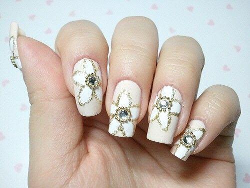 bridal nail designs wedding nail art