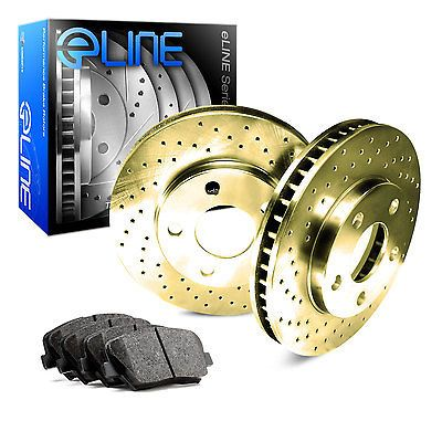 Front Gold Edition Cross Drilled Brake Rotors Ceramic Brake Pads Fgx 34159 02 Ceramic Brake Pads Brake Rotors Performance Brakes