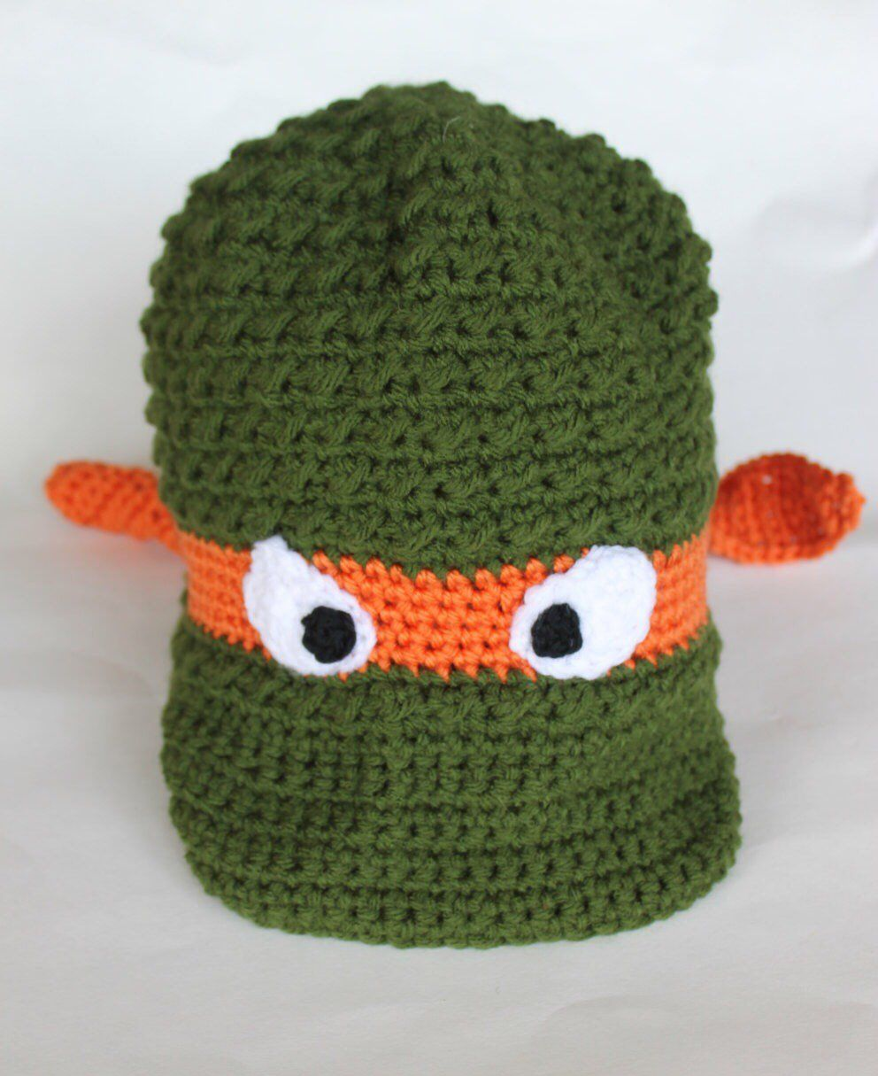 bcc20f23715 Crochet Ninja Turtle Newsboy Hat anyone  I make all 4 TMNT characters in  all sizes. Also comes in a beanie style.