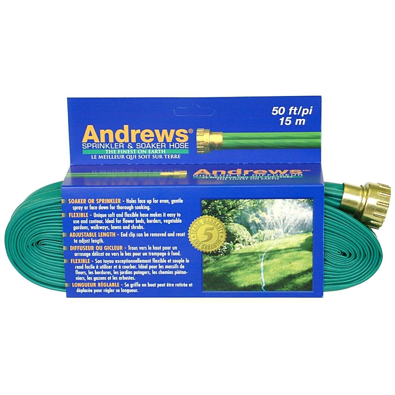 Andrews 1012348 50 feet 2 tube sprinkler soaker hose