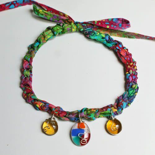 Crochet Necklace, Wire-Wrapped Pendants - Patterns | Crochet ...