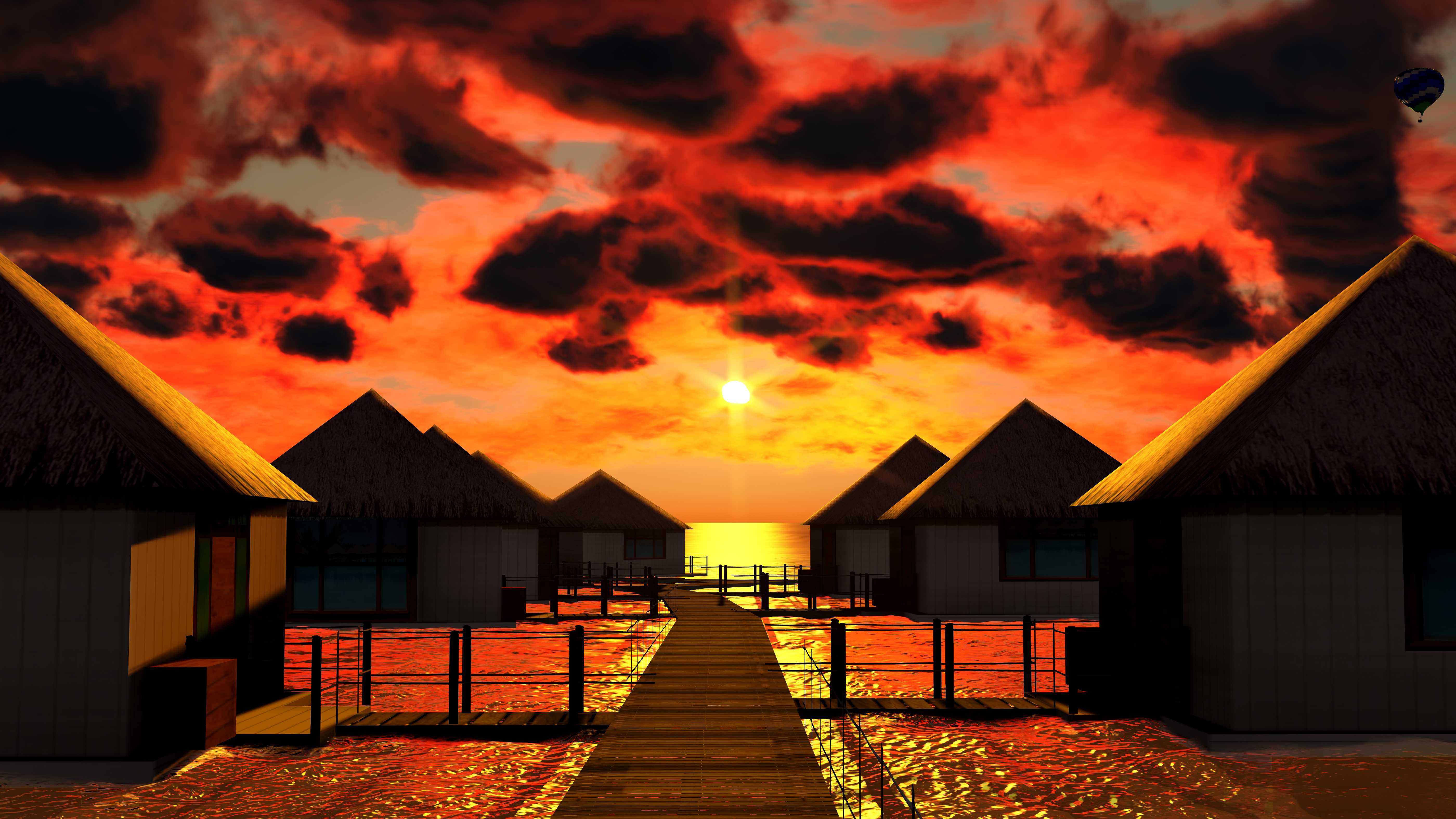 Bora Bora Sunset Bora Bora Sunset Wallpaper Wallpaper Hd Background Desktop Beautiful Places To Visit Dream Vacations Beautiful Places