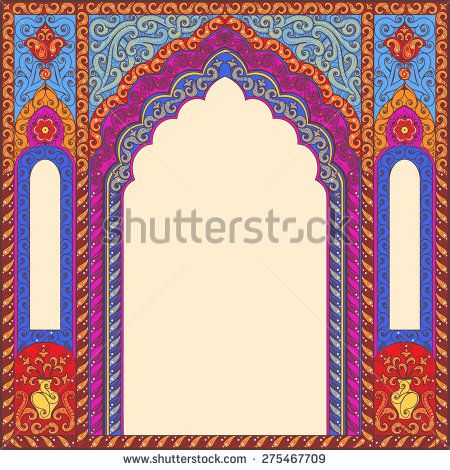 Indian Arch Fotos Imagenes Y Retratos En Stock Vector Art Design Art Wallpaper Iphone Free Vector Ornaments