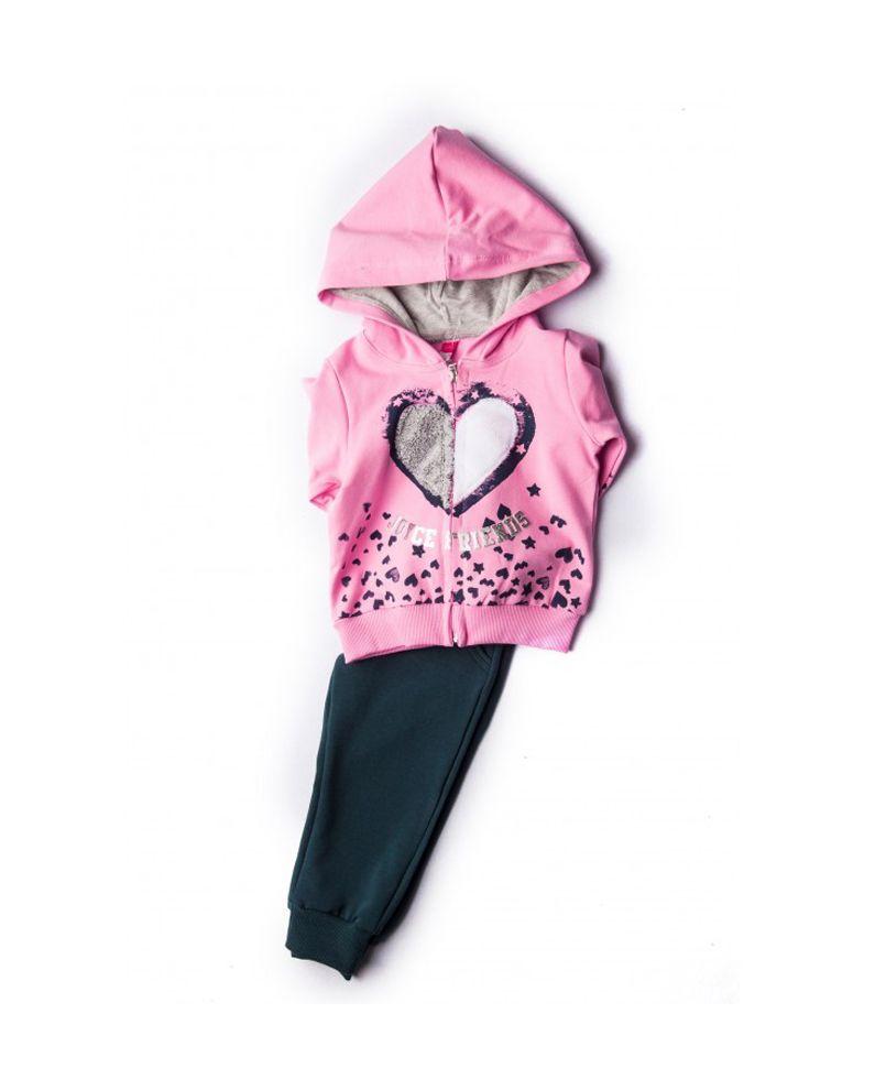 d3f23c956c1 Φόρμα Φούτερ Για Κορίτσι Με Ζακέτα Ροζ – Μπλε Joyce Friends 86402 #φόρμα # φούτερ