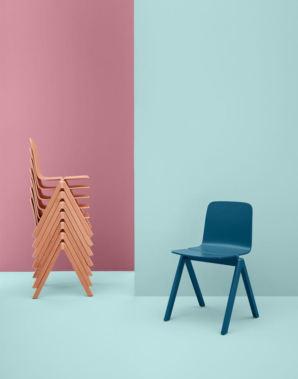 Ronan & Erwan Bouroullec contemporary wooden stacking chair - copenhague by ronan