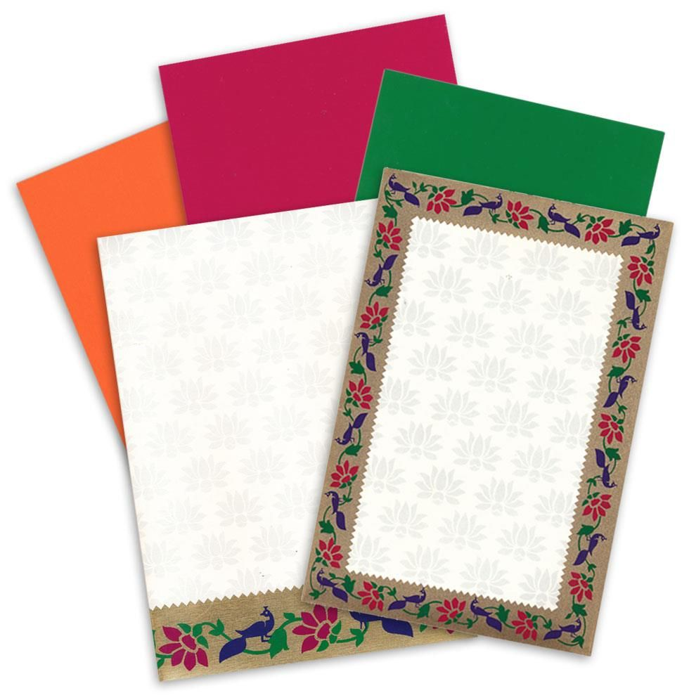 Colored card stock and envelopes - Peacock Theme Invitations Made On Card Stock Sheet With Nice Base Color Inserts Envelope And