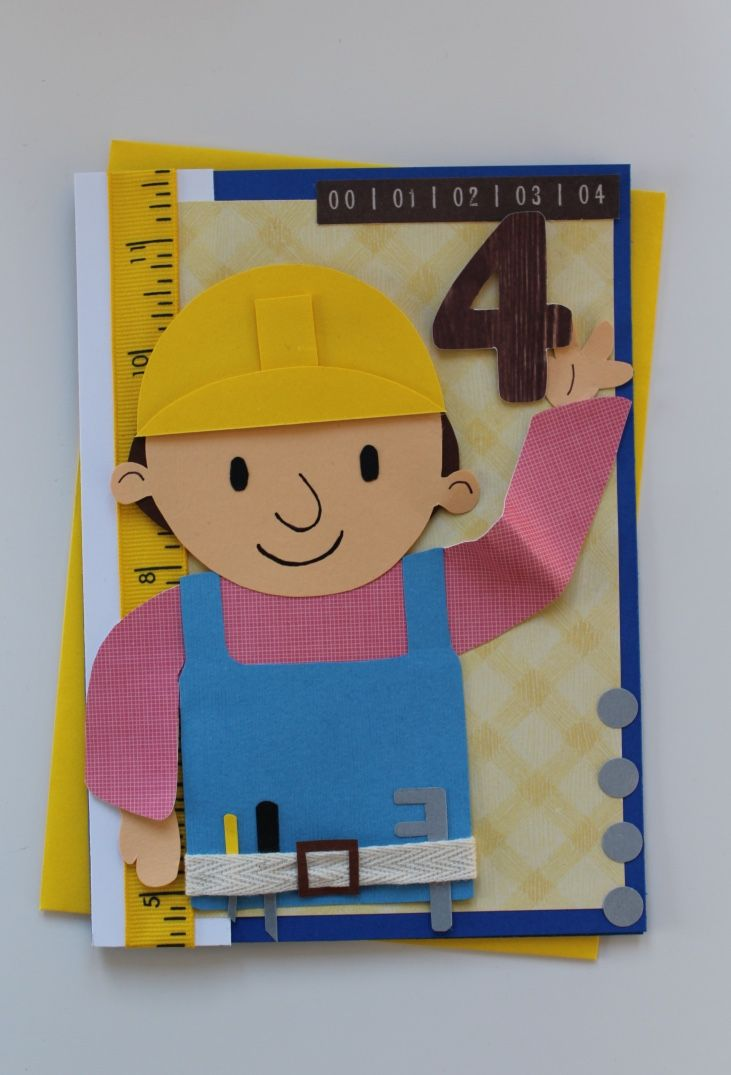Bob The Builder Birthday Card Cards By Michelle Ma Belle