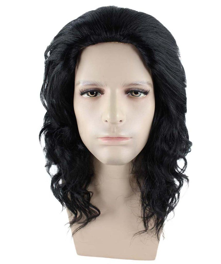 Game of Thrones Wig Black Jon Snow Wig Cosplay Wigs Men Wig Halloween Costume