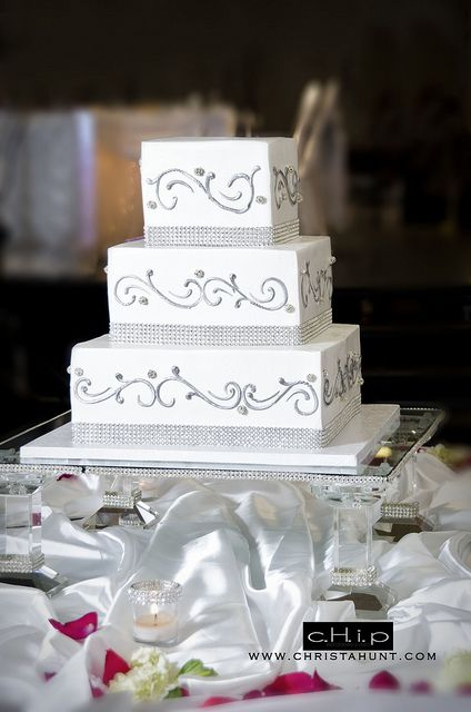 Square Wedding Cakes With Bling | Rhinestone Wedding Cake Stand | Flickr    Photo Sharing!