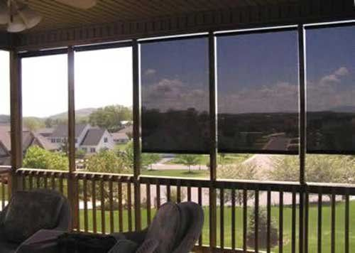 Phifer Phifer Suntex Outdoor Roller Shade Exterior Roll-Up Sun Shade ...