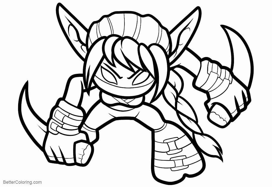 24 Skylander Coloring Pages Printable In 2020 Coloring Pages