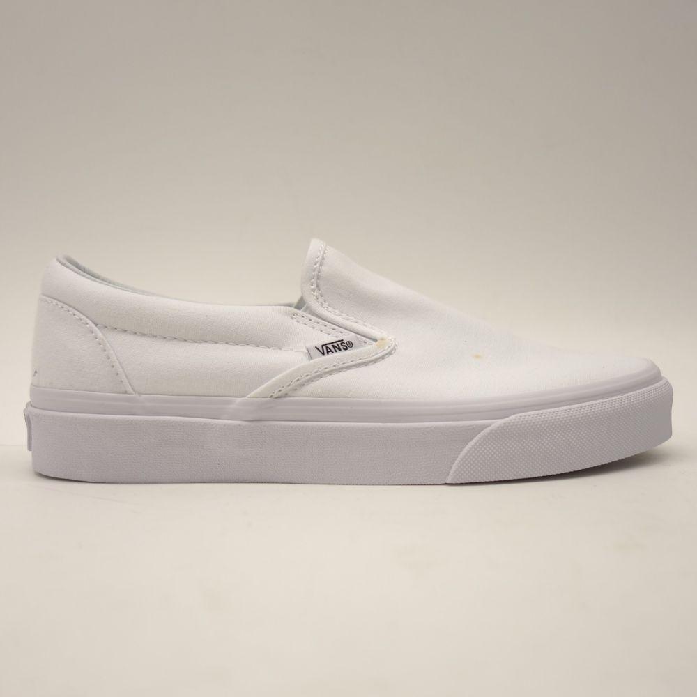 49abc272f6d752 New Vans Womens True White Classic Slip On Canvas Skater Shoes Size US 7 EU  37  VANS
