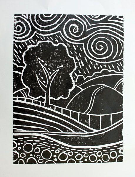 Easy Linoleum Art Designs