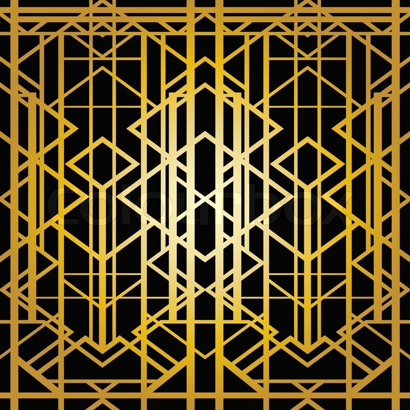Art Deco Geometric Pattern 1920 S Style Vector Colourbox
