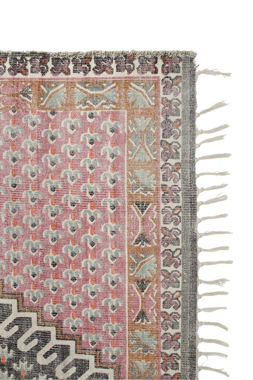 Large Poppy Field Rug Pink And Grey Rug French Connection Rug Rugs