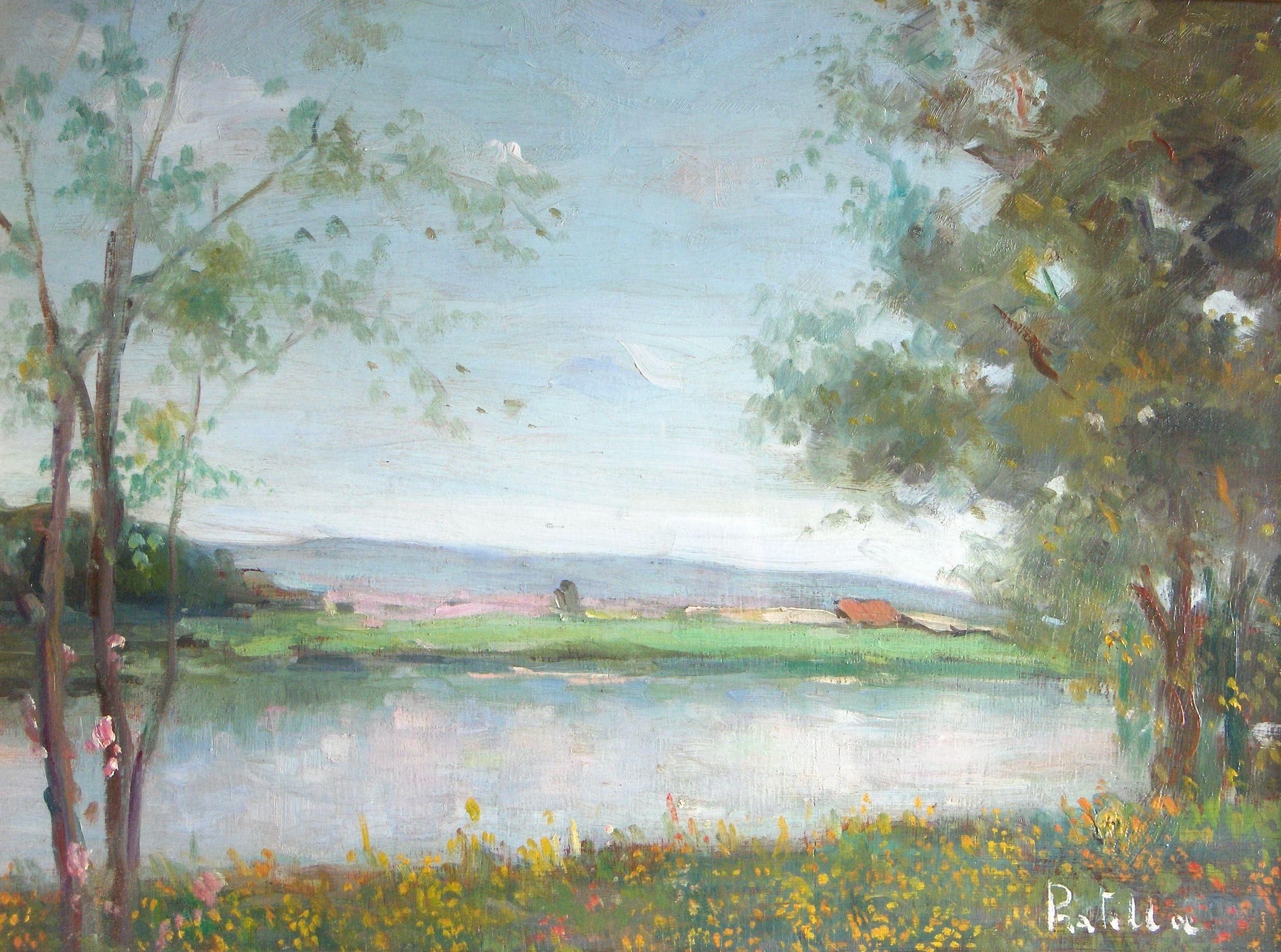 Quote Des Artistes Peintres attilio pratella - bord de fleuve | trees to plant, art