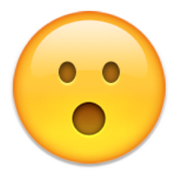 Face With Open Mouth Png 256 256 Emoji Eyes Emoji Face