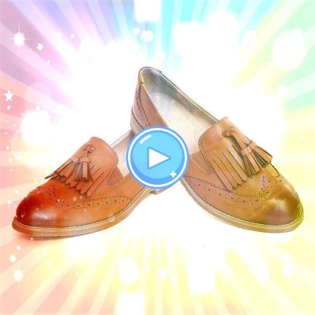 Dress Shoes Oxford Shoes Formal Work Footwear Black Flats Slipon Retro Shoes Genuine Le Women Dress Shoes Oxford Shoes Formal Work Footwear Black Flats Slipon Retro Shoes...
