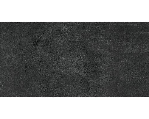 Feinsteinzeug Bodenfliese City Anthrazit 30x60 Cm Badezimmer